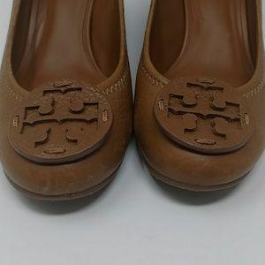 0d8aaa6f550e Tory Burch Shoes - Tory Burch Sally Royal Tan Leather Wedge Heels